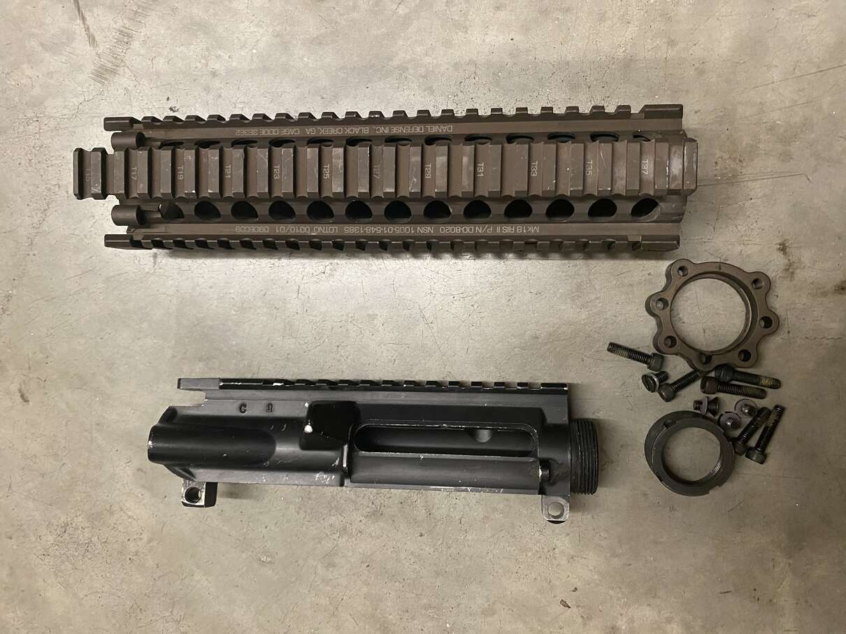 Daniel Defense MK18 RIS II - Black Creek /Colt C Marked Keyhole M4 Upper